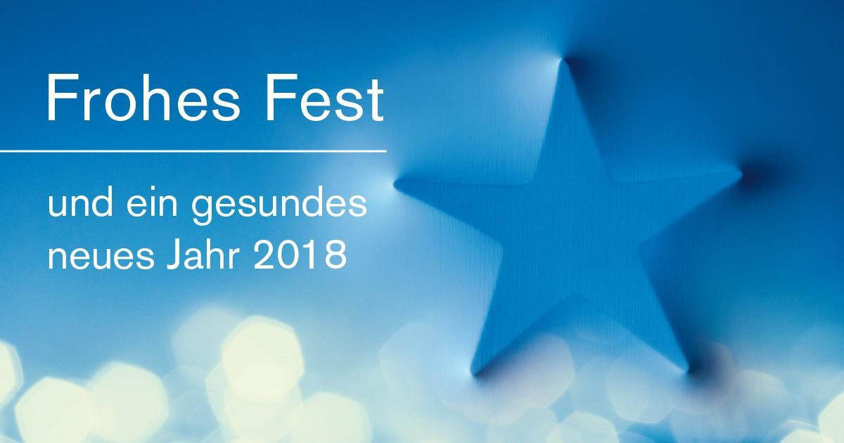 Frohes Fest und ein gesundes neues Jahr 2018 | NiedersachsenMetall